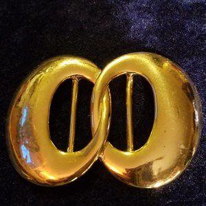 Vintage Gold Plated Scarf Holder